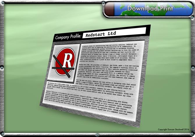 TideBreakers 'Redstart' Company Profile