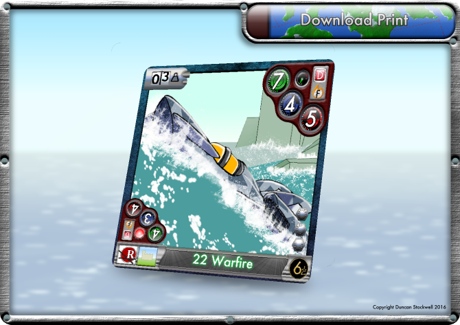 TideBreakers Warfire Sub Card